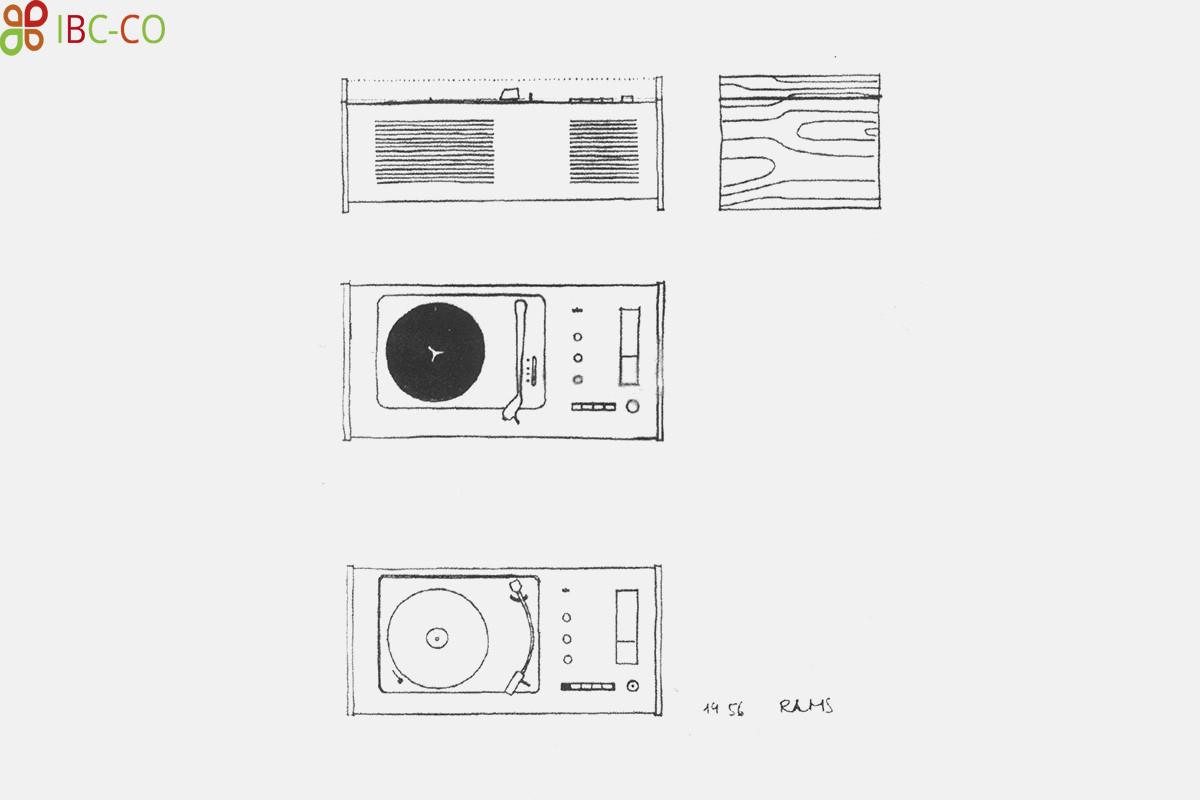 طرحهای دستی اولیه گرامافون اس کی 4، دیتر رمس، 1956